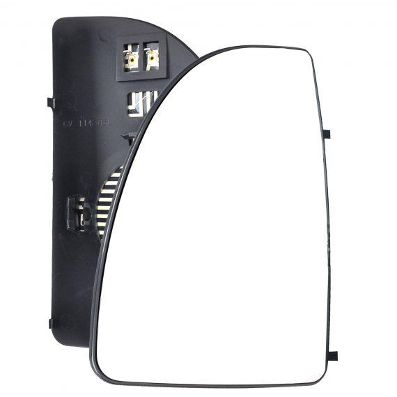 Left side wing door mirror glass for Fiat Ducato