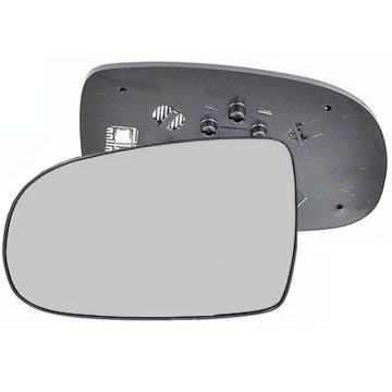 Left side wing door mirror glass for Vauxhall Corsa