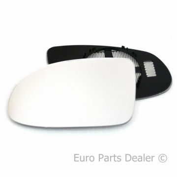 Left side wing door mirror glass for Vauxhall Omega