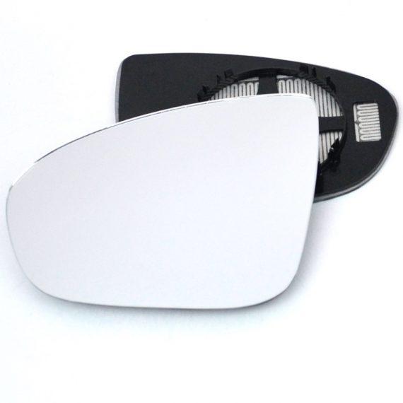 Left side wing door mirror glass for Vauxhall Meriva