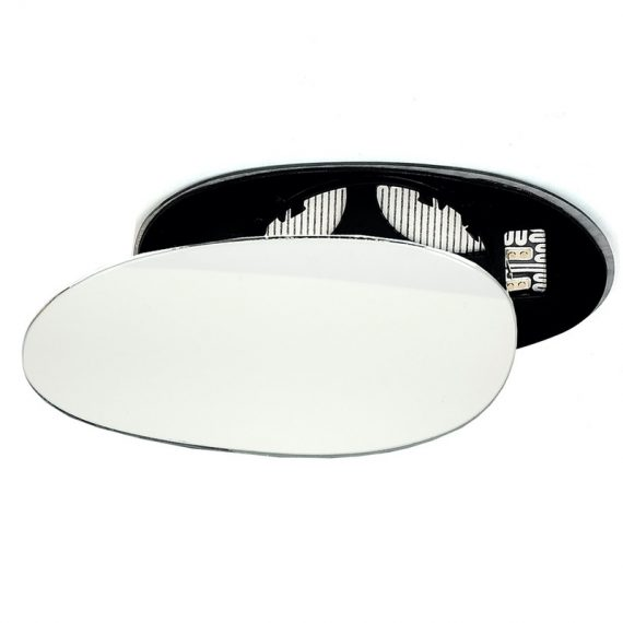 Left side wing door mirror glass for Smart Fortwo