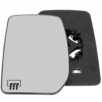 Left side wing door mirror glass for Ford Transit