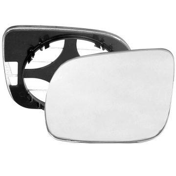 Left side wing door mirror glass for Seat Arosa