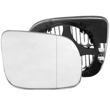 Right side wing door blind spot mirror glass for Seat Arosa, Volkswagen Lupo