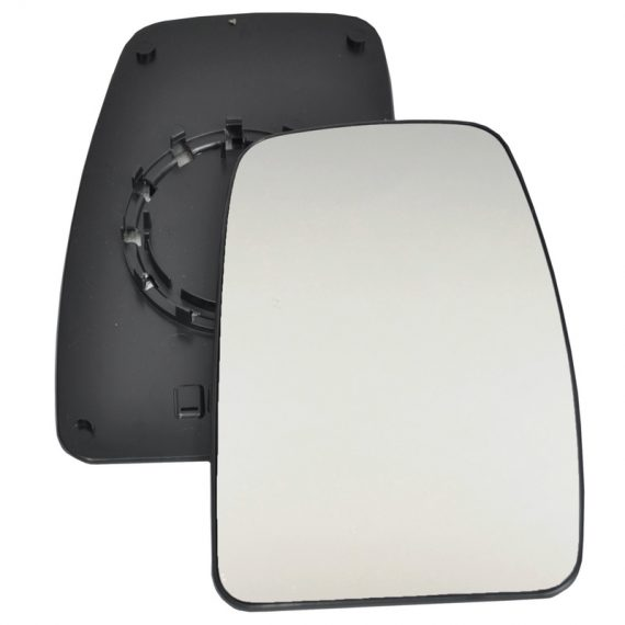 Right side wing door blind spot mirror glass for Nissan Interstar, Renault Master, Vauxhall Movano