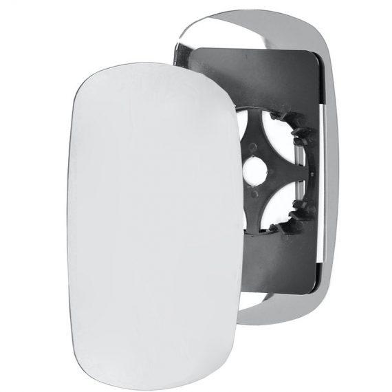 Left side wing door mirror glass for Fiat Doblo