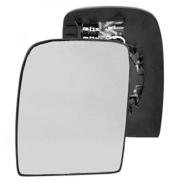 Left side wing door mirror glass for Citroen Dispatch