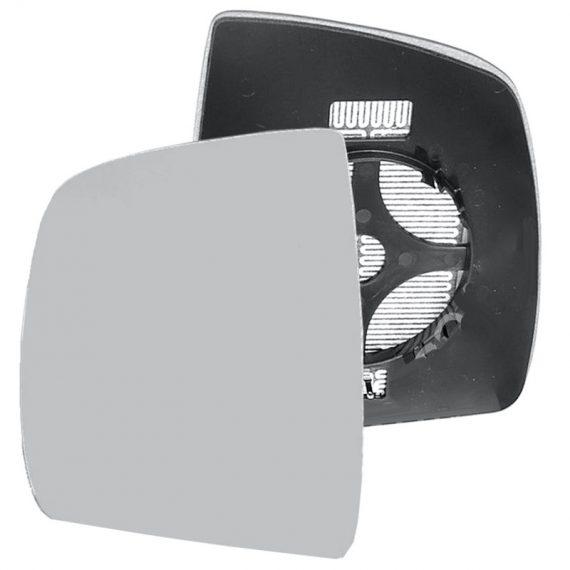 Left side wing door mirror glass for Fiat Doblo, Vauxhall Combo