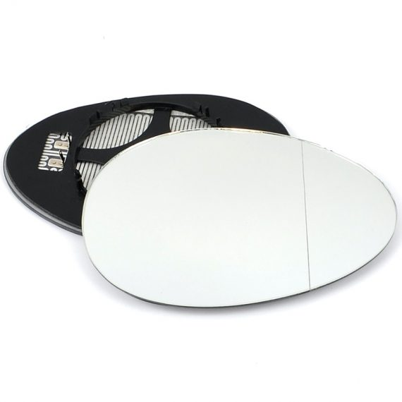 Right side wing door blind spot mirror glass for Mini Hatchback